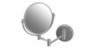 Espejo para lavabo de dos brazos con soporte redondo de 20cm - Soportes para espejos ...